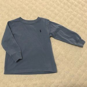 Polo Ralph Lauren blue-gray long sleeve t-shirt